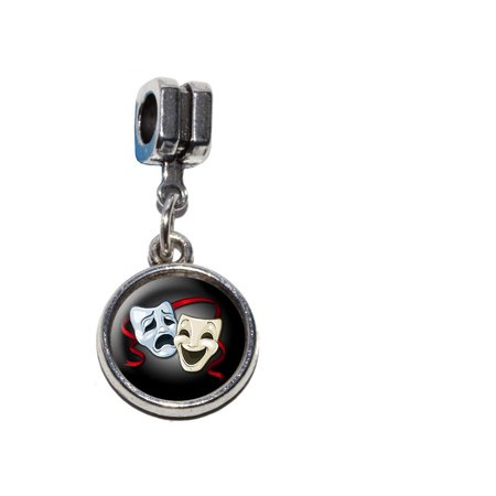 Drama Comedy Tragedy Masks - Acting Theatre Theater European Style Bracelet Charm