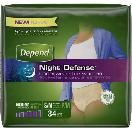 Depend Night Defense Incontinence Overnight Underwear For Women  S M  Choose Your Count