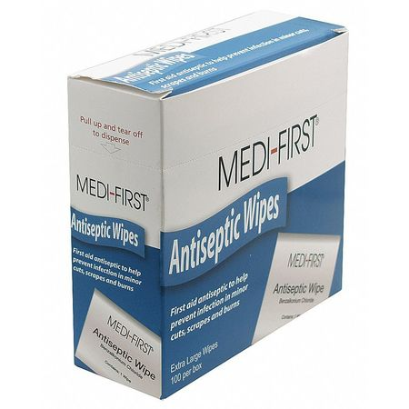 MEDI-FIRST Antiseptic Wipes,PK100 21433