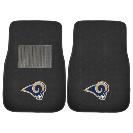 FanMats NFL Los Angeles Rams 2-Piece Embroidered Car Mats