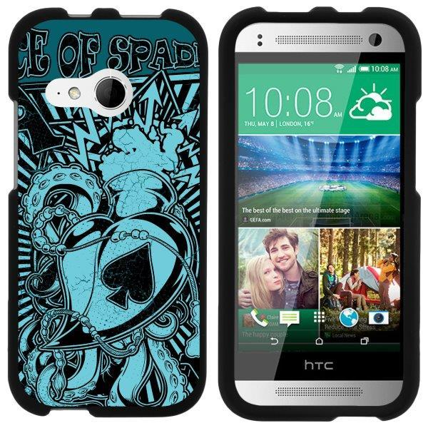 TurtleArmor ® | For HTC One M8 Mini | HTC One Mini 2 | HTC One Remix [Slim Duo] Two Piece Hard Cover Slim Snap On Case - Ace of Spades Art