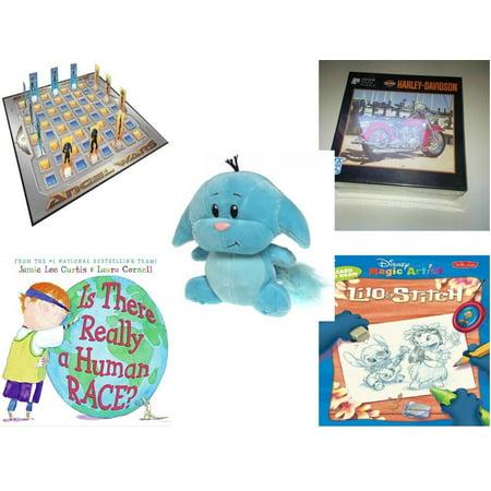Lilo And Stitch Halloween Games (Children's Gift Bundle [5 Piece] -  Angel Wars Board  - Harley-Davidson Red Panacea   - Neopets Blue Kacheek  6