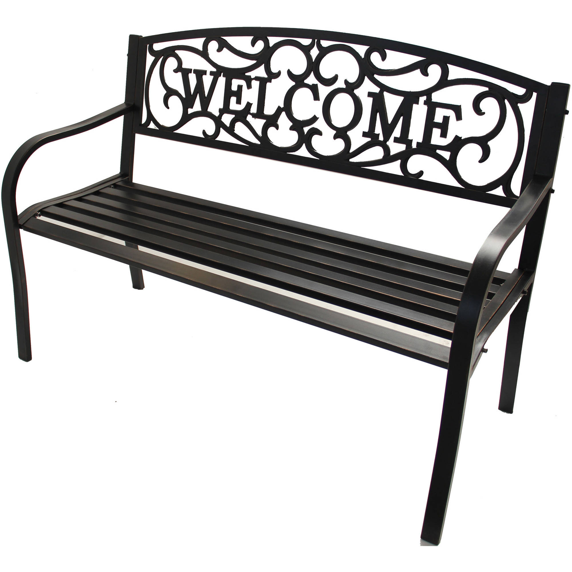 Better Homes U0026 Gardens Welcome Outdoor Bench   Walmart.com