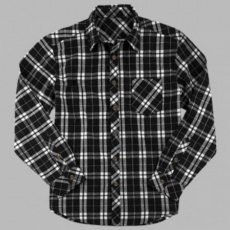 027fc7637a7a05 Boxercraft - Boxercraft F51BLKW Black and White Men's Flannel Shirt -  Walmart.com