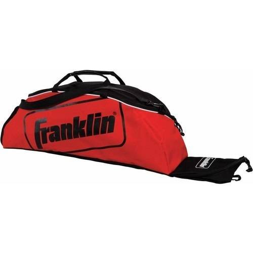 Franklin Sports Junior Size Equipment Bag Franklin Sports Jr. Size Equipment Bag: Ventilated cleat storage compartmentSeparated bat pocket holds up to 3 batsOverall size: 6  x 34  x 9 Perfect for keeping all your gear in one placeHandle and shoulder strap for easy carry and portability