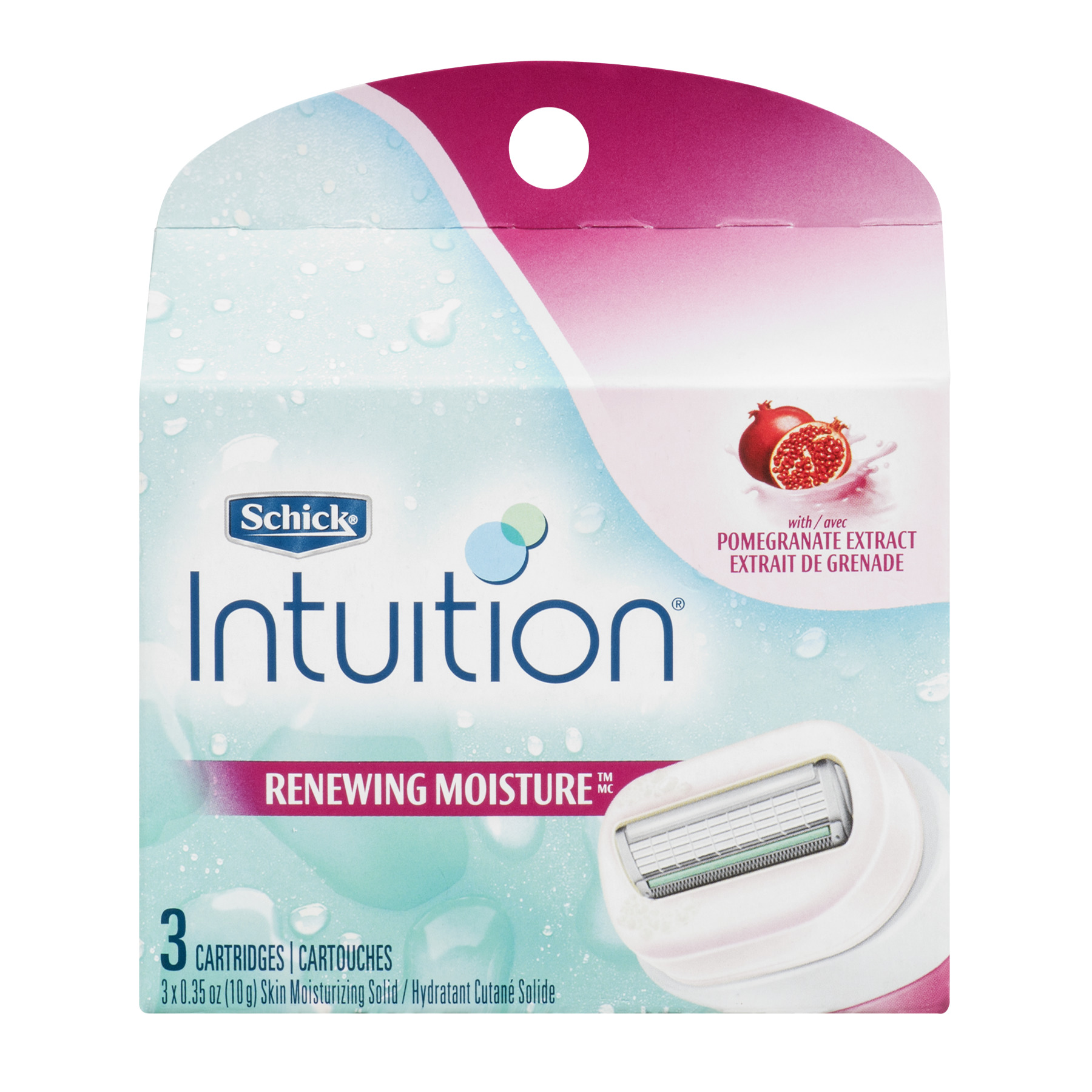 Schick Intuition Plus Renewing Moisture Razor With Pomegranate Extract - 3 CT3.0 CT