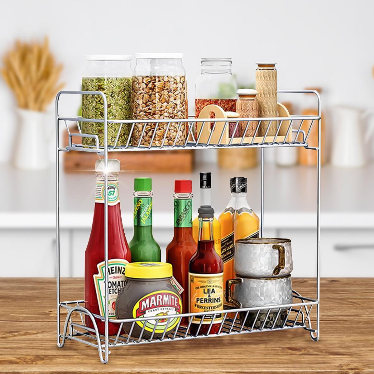 2-Tier Spice Rack, Kitchen Cabinet Organizer Kitchen ...