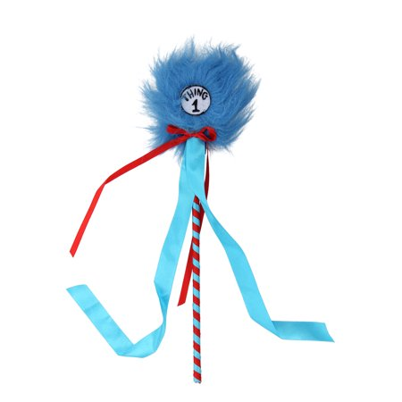 Dr. Seuss Cat in the Hat Thing 1 & 2 Pom Fairy Wand by elope](Dr Seuss Cat In The Hat Hat)