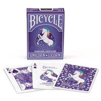 1 DECK OF UNICORN PURPLE BICYCLE STANDARD POKER PLAYING CARDS
