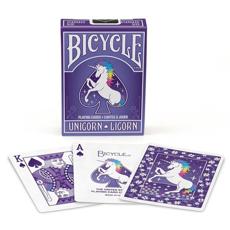 Printable Deck Of Cards (1 DECK OF UNICORN PURPLE BICYCLE STANDARD POKER PLAYING)