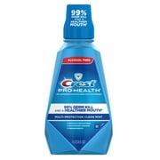 (2 pack) Crest Pro-Health Multi-Protection Alcohol Free Mouthwash, Clean Mint, 33.8 fl oz (1 L)