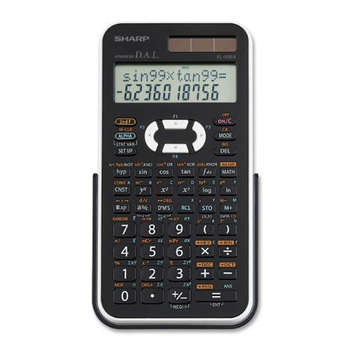 Sharp EL-520XBWH Scientific Calculator - 390 Functions