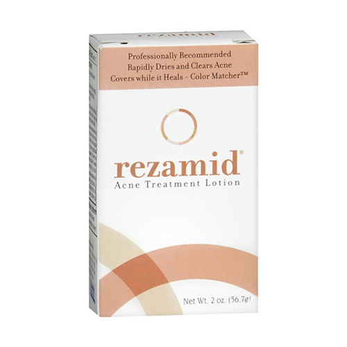Rezamid Acne Treatment Lotion 2 oz (Pack of 2) GLYCOLIC ACID PEEL 50% Chemical Peel Enhanced with Retinol and Green Tea Extract to fade Acne, Scars, Age spots, Wrinkles, Fine lines, Freckles, Hyperpigmentation and rejuvenate skin - 1 fl oz 30mL