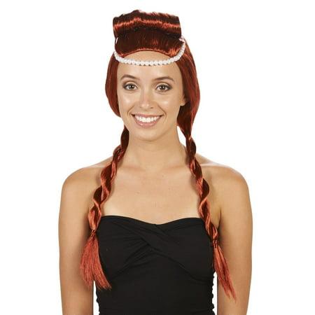 Red Medieval Adult Wig - Flinstone Costume