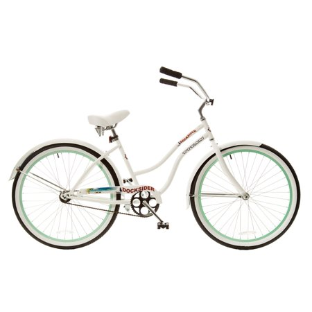 26 titan docksider deluxe women 39 s beach cruiser bike white mint green. Black Bedroom Furniture Sets. Home Design Ideas