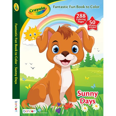Bendon Publishing Crayola Fantastic Fun Sunny Days Coloring ...
