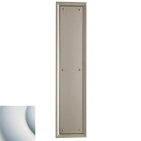 Baldwin  2280  Push Plate  Nashville  Door Plate  3.5 x 15  ;Satin (Baldwin Push Plates)