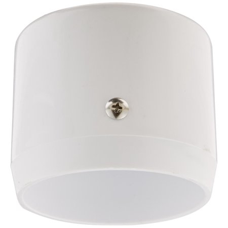 """MCAP3W Mighty Post Cap for 3"""" Pipe, 2-7/8"""" OD, White, Set screw locks cap to post By RAB Lighting Ship from US"""