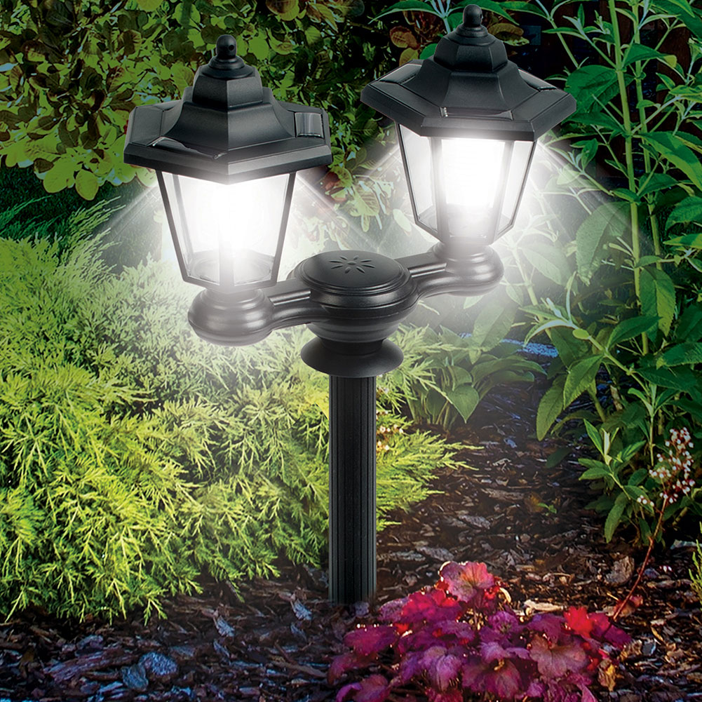 3-in-1 Dual Lanterns Solar Powered Outdoor Lights With