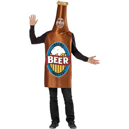 Mens' Beer Bottle Costume, M (Milk Bottle Costume)