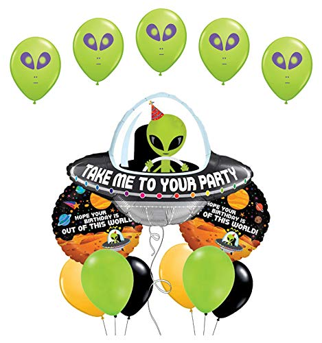 Space Alien Birthday Party Supplies Balloon Bouquet Decorations