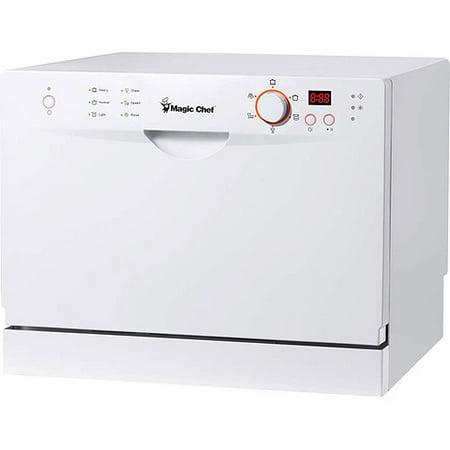 Magic Chef 6-Place Setting Countertop Dishwasher, White