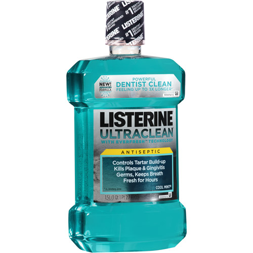 Listerine Ultraclean Antiseptic Cool Mint Mouthwash, 1.5 l