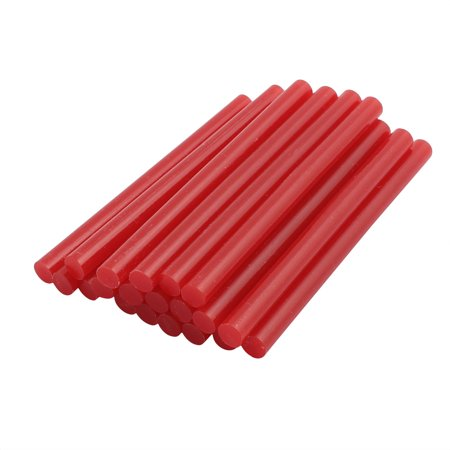 20pcs 7mm x 100mm Economy Hot Melt Glue Sticks Red for DIY Small Craft