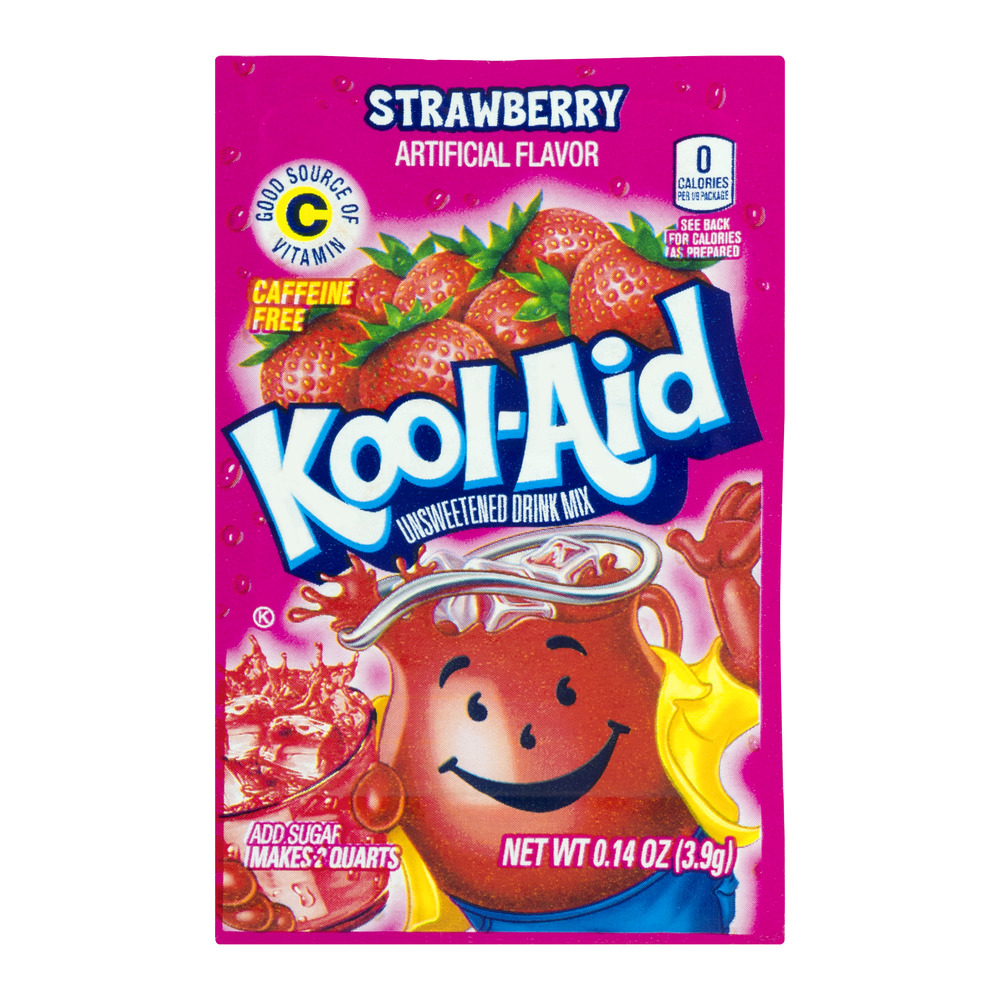 Kool-Aid Unsweetened Drink Mix Strawberry, 0.14 OZ