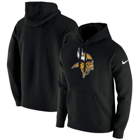 Minnesota Vikings Nike Club Fleece Pullover Hoodie - Black ()