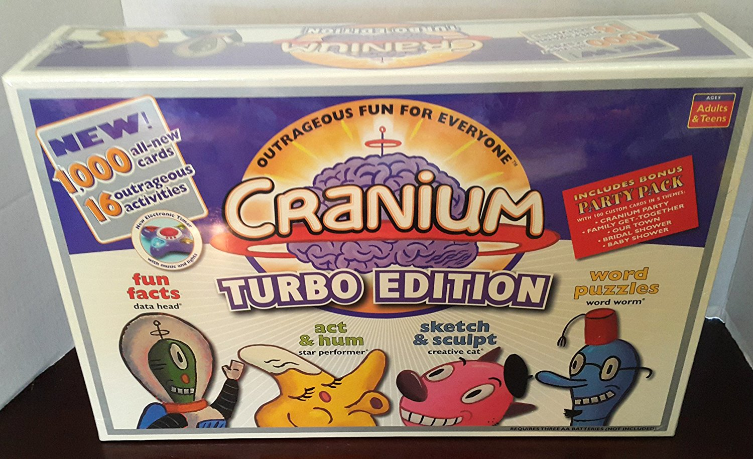Turbo Edition, It is the deluxe version of Cranium that cranks up outrageous fun with even more New ways to... by