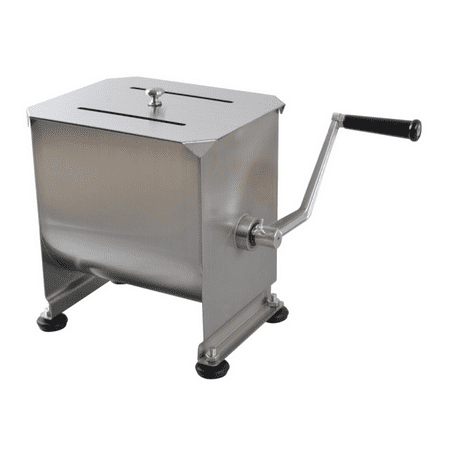Hakka 20-Pound capacity Tank Stainless Steel Manual Meat Mixer (Mixing Maximum 15-Pound for