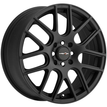 "Vision 426 Cross 16x7 4x100/4x4.5"" +38mm Matte Black Wheel Rim 16"" Inch"