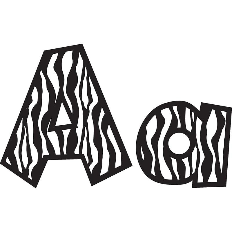 4In Fun Font Letters Zebra - image 1 de 1