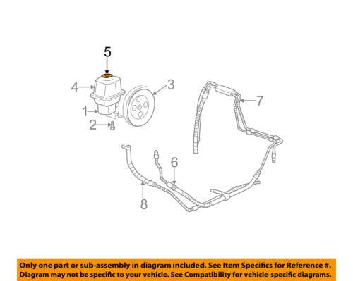 GM OEM Power Steering Pump-Reservoir Tank Cap 20795354
