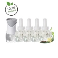 100% Natural Eucalyptus Refill Kit with (4 ) Refills (1) Air Wick Plug In Scented Oil Warmer