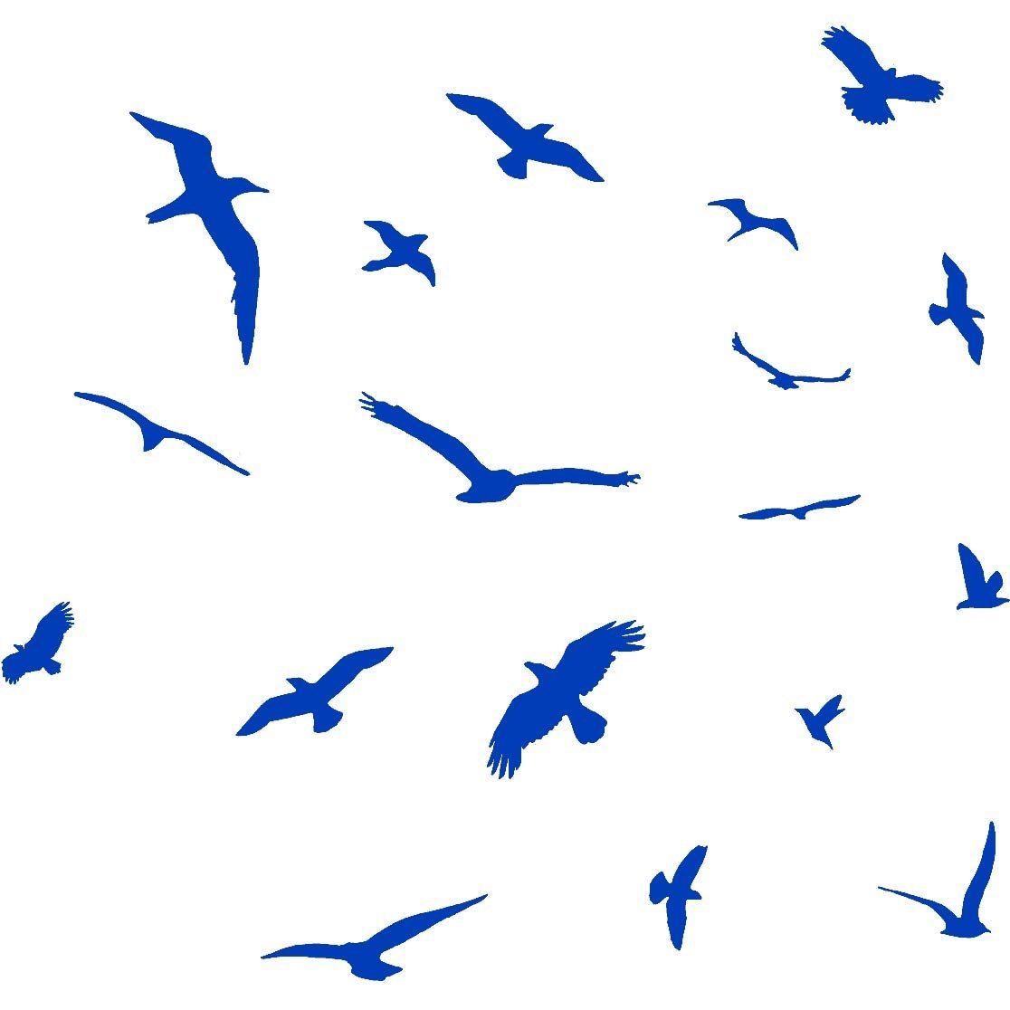 VWAQ Flock of Birds Flying Wall Decals Stickers Peel and Stick Wall Art (BROWN)