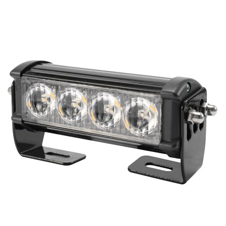 2PCS 7-Flashing Mode 12V 4 LED Strobe Flash Grille Light Warning Hazard Emergency Lamp Car Truck Waterproof - image 7 of 7