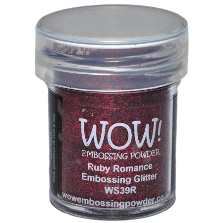 Tsukineko Embossing Powder - WOW! Embossing Powder 15ml-Ruby Romance