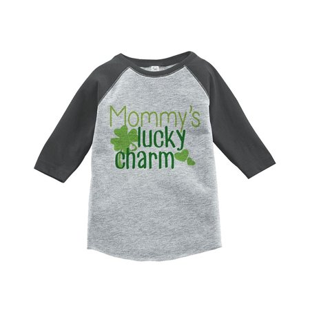 Custom Party Shop Boy's St. Patrick's Day Vintage Baseball Tee - Grey and Green / Medium Youth (10-12) T-shirt