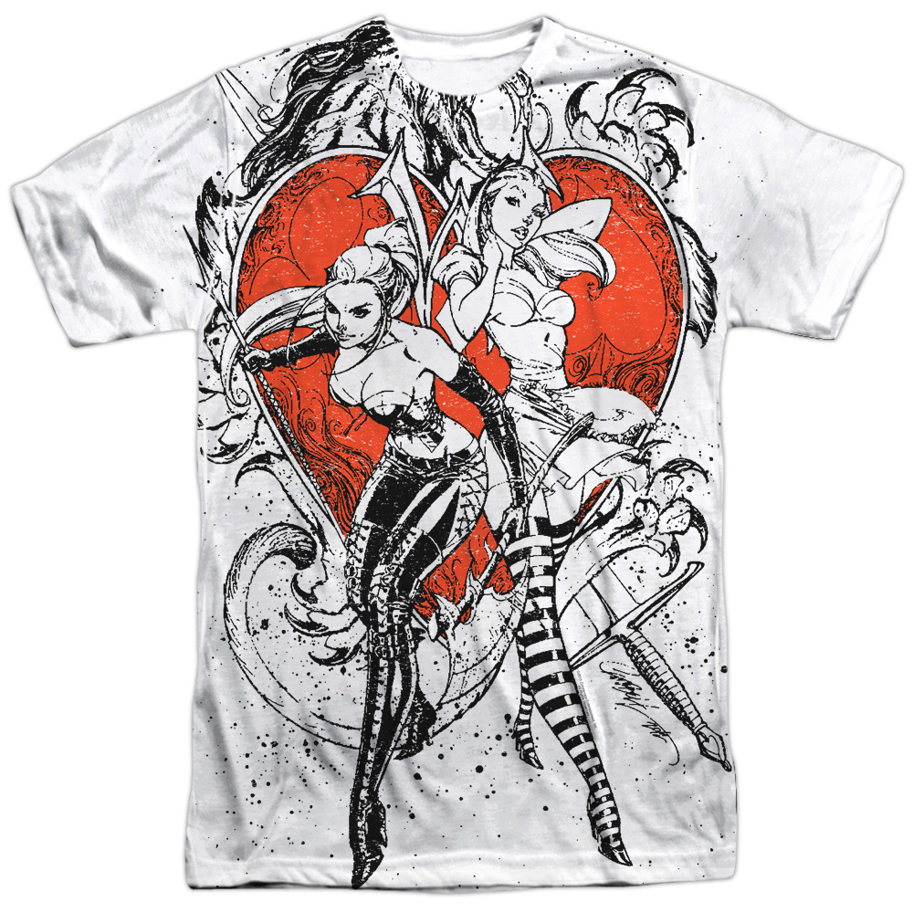 Zenescope Bw Heart Mens Sublimation Shirt