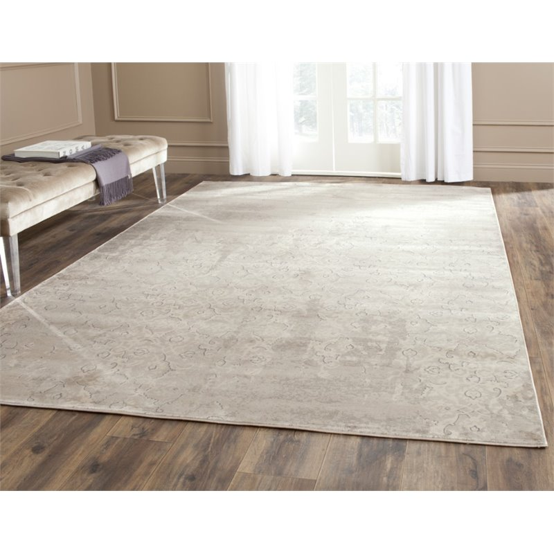 Safavieh Vintage 3' X 5' Power Loomed Rug in Gray and Ivory - image 1 of 3