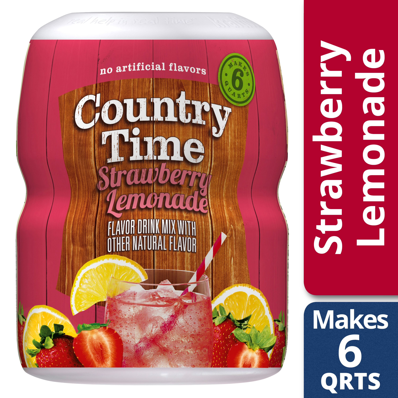 Country Time Strawberry Lemonade Drink Mix 18 Oz Jar Walmart