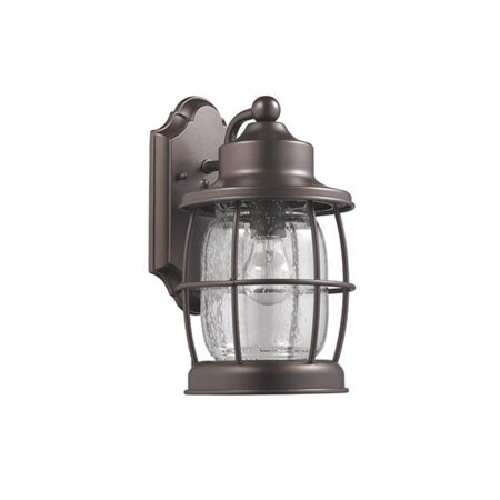 12 in. Lighting Lucan Transitional 1 Light Rubbed Bronze Outdoor Wall Sconce - Oil Rubbed Bronze (Bronze Tahoe Transitional Wall)