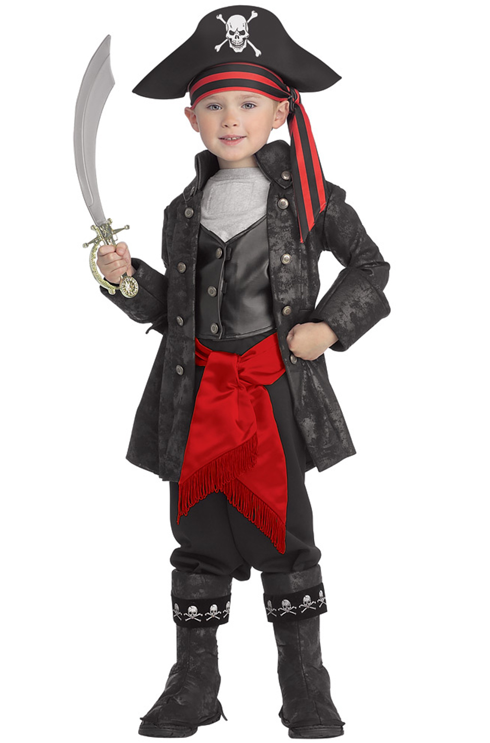 Captain Black Child Pirate Costume by Rubies