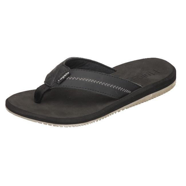 Flojos Mens Logan Sandal, Black Size 7 by Flojos