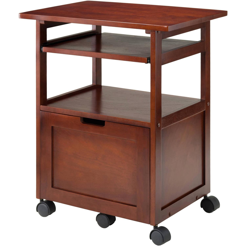 Wood Liso Corner Desk With Shelf Espresso Walmart Com