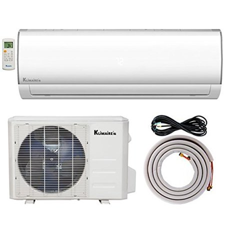 klimaire ksif018-h215-s 18,000 btu 15.5 seer ductless mini-split inverter air conditioning heat pump system with 15'. installation kit (230v), 18,000 btu - 230 v - Heat Pump Air Conditioning System