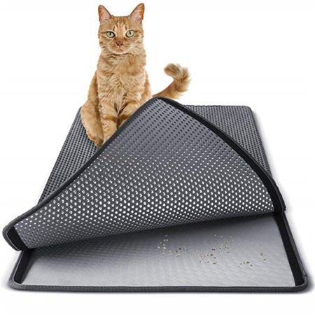 Pet Cat Litter Mat EVA Double-Layer Cat Litter Trapper Mats Non-slip Pet Mat - image 5 of 9
