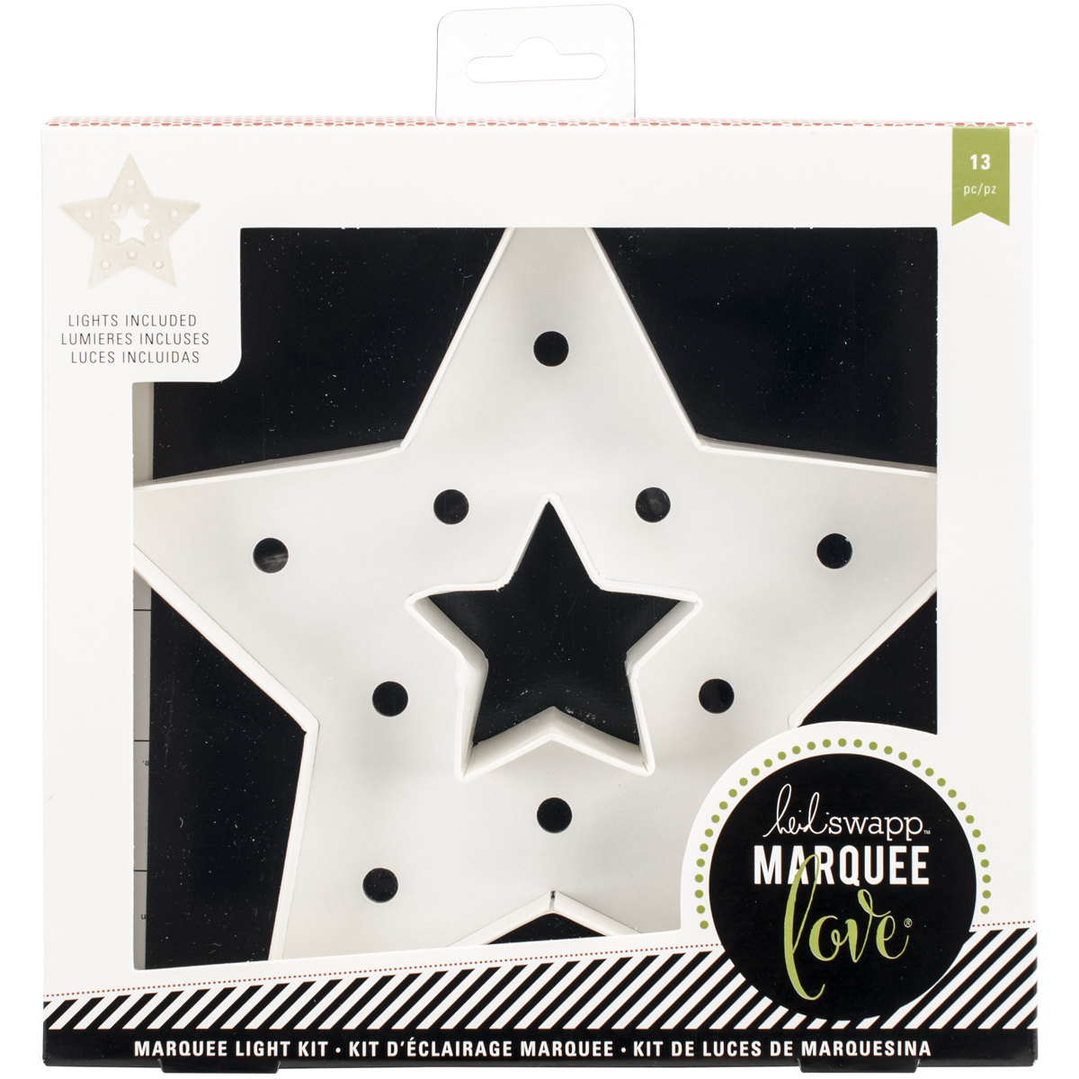 "Heidi Swapp Marquee Love Christmas Paper Shape, Star, 8.5"" x 8"""